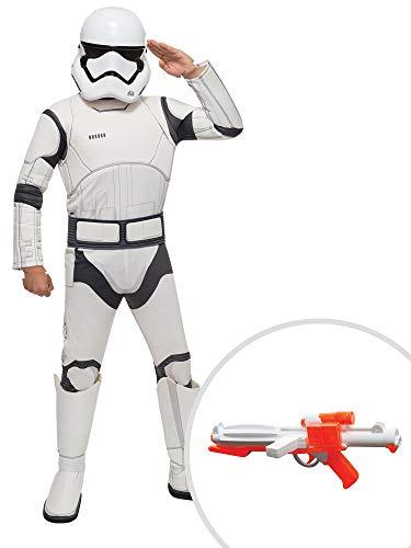 Star Wars The Force Awakens Stormtrooper Costume Kit Deluxe Kids Medium With Blaster -
