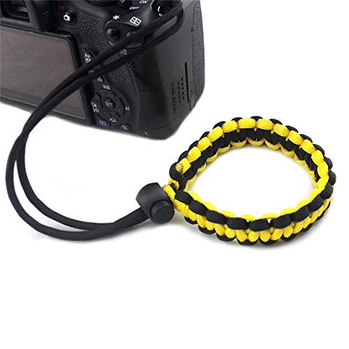 Dunnomart Anti-Lost Colorful Manual Weaved Camera Strap Plaited Tactical