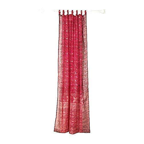 Colorful Window Treatment Draperies Indian Sari panel 108 96 84 inch for bedroom living room dining room kids yoga studio canopy boho tent FREE GIFT Silk bag RED Curtain, Burgundy Red Maroon accents