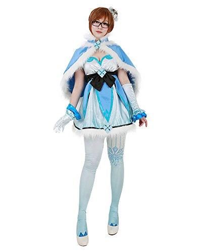 [Miccostumes Women's Magical Girl Mei Cosplay Cloak Dress (Large)] (Mei-costume)
