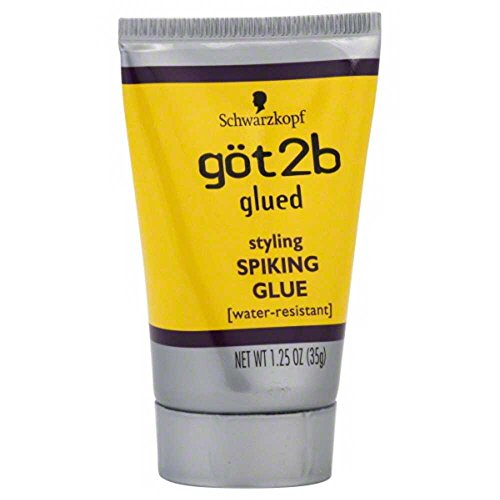 Got2b Hair Glue (Glued Styling Spiking Water Resistant Glue Unisex by Got2B, 1.25 Ounce)
