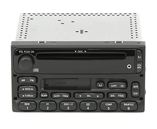 Ford Factory Radios - 1 Factory Radio AM FM CD Cassette Player Compatible With 1999-10 Ford Ranger YU3F-18C868-AA