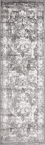 Unique Loom 3134090 Sofia Collection Traditional Vintage Beige Area Rug, 2' x 6'7 Runner, -