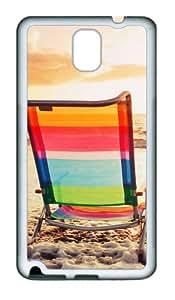 Chairs At The Beach Custom Design Samsung Galaxy Note 3 / Note III/ N9000 Case Cover - Tpu - White
