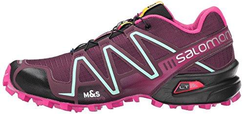 Salomon Women's Speedcross 3 W Trail Running Shoe, Bordeaux/Hot Pink/Lotus Pink, 10 B US by Salomon (Image #5)