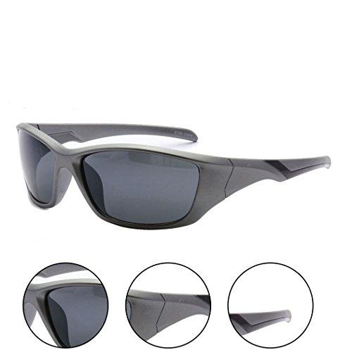 MLC Eyewear Outdoors Sports Full Square Framed Sunglasses - Square Framed Red Glasses