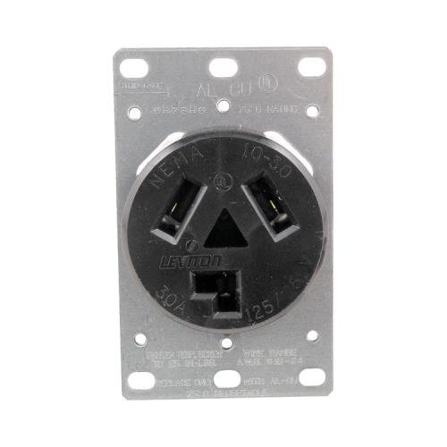 1 - Single-Flush Dryer Receptacle (3 wire), 30A, 3 wire, 5207
