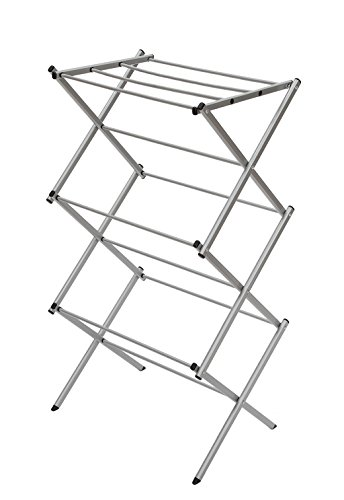 STORAGE MANIAC 3-Tier Folding Anti-Rust Compact Steel Clothes Drying Rack - 22.44