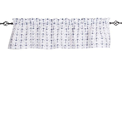Anchor Home Collection - Home Collections by Raghu 72x15.5 Anchors Away White-Navy Valance