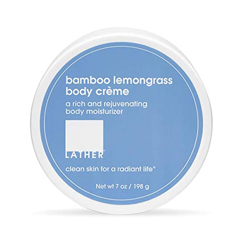LATHER Bamboo Lemongrass Body Crème, 7 Ounce - Rich, Rejuvenating Body Lotion with Shea ()