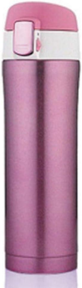 agua acero inoxidable botella termica Taza creativa minimalista moderna 450ml-Glamour Red