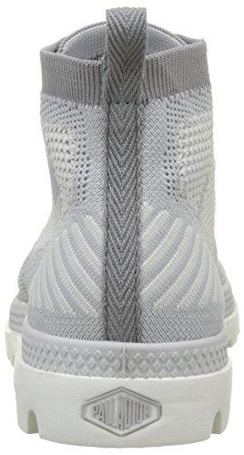 Palladium Pampa Hi Lite Knit, Sneaker a Collo Alto Donna Grigio (Lily White/Lily White L81)