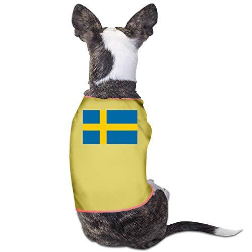 LNUO-2 Pet Shirt Clothes, Flag of Sweden Dog