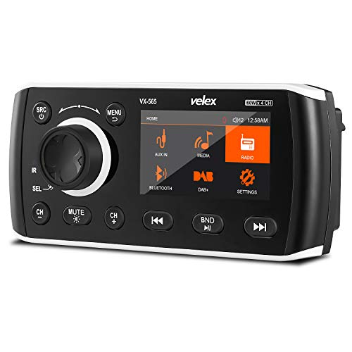 Marine Stereo UTV for Yacht Boat Audio Video Player FM//AM with Bluetooth Streaming ATV Power Sport Spa