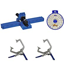 Kreg Jig K5 Pocket Hole System, (2) KHC-1410 Clamps, SSW Screw Selector Wheel