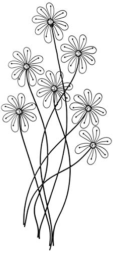 Deco 79 64650 Modern Metal and Acrylic Floral Wall Decor, 40