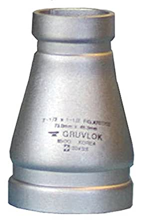 Anvil International 0390073492 Series A7072-SS04 Gruvlok 304 Stainless Steel Full Flow Concentric Reducer Fitting 12 x 10 Nominal Size