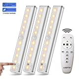 Wireless Remote Control Led Under Cabinet Lighting [3 Packs], LDOPTO 10 LED Cupboard