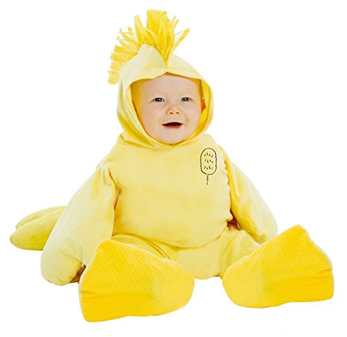 Peanuts: Plush Woodstock Jumpsuit Costume for Toddlers - 3T-4T - Woodstock Peanuts Costume