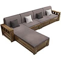 New Chinese Style Solid Wood Sofa for Winter and Summer