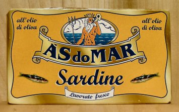 A'S do MAR - Portuguese Sardines in Pure Olive Oil, (2)- 4.23 oz Tins