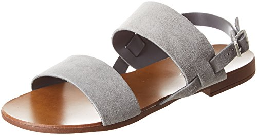 Ankle New Women's Grey Fit Grey Mid Geena Strap Sandals 4 Look Wide ffRqwZS7