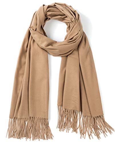 (Cindy&Wendy Large Soft Silky Cashmere Pashmina Shawls Wraps Scarf for Women in Solid Colors)