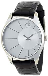 Calvin Klein Deluxe K0S21120 - Reloj de caballero de cuarzo, correa de piel color negro