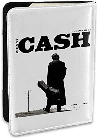 ジョニー・キャッシュ The Legend Of Johnny Cash パスポートケース パスポートカバー メンズ レディース パスポートバッグ ポーチ 収納カバー PUレザー 多機能収納ポケット 収納抜群 携帯便利 海外旅行 出張 クレジットカード 大容量