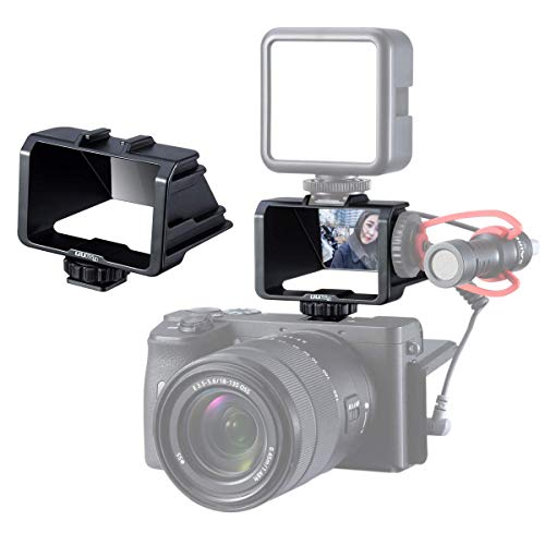 UURig R031 Camera Selfie Flip Screen, Cold Shoe Mount for Mic Light Vlog Filmmaking YouTube Live Stream Photographing Accessory for Sony a6000/a6300/a6400/a6500/a6600/A7III/A7R3/A7M3 Nikon Canon