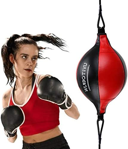 Sport Fitness MMA Boxing Punching Ball Speed Training Pe Pu Bag Leather W5R0