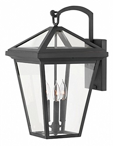 Hinkley 2565MB Alford Place Outdoor Wall Sconce, 3-Light, 180 Total Watts, Museum Black For Sale