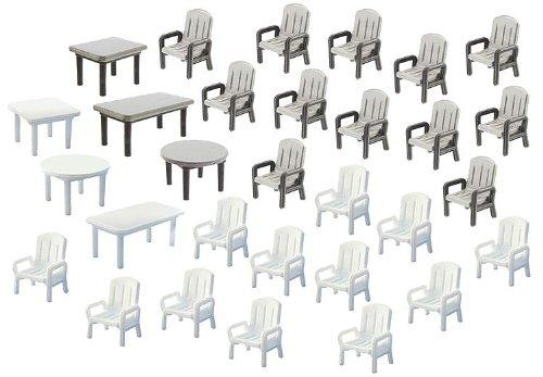 4 opinioni per Faller F180439 H0- 6 Tavoli e 24 Sedie da Giardino, Colori Bianco e Grigio