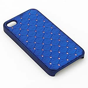 (CASEI)Hi-Q Mesh Style Protective Case with Diamond for iPhone 4 and 4S (Assorted Colors) , Pink