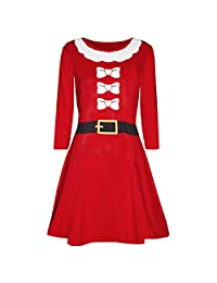 FarJing Christmas Dress Clearance, Women Christmas Printed Evening Prom Costume Dress