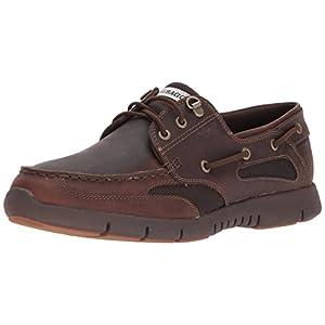 Sebago Men's Clovehitch Lite Boat Shoe, Dark Brown Leather, 13 D US