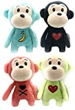 large teddy bear 10 feet - High Qulity Plush Monkey 4 Pack 10'' Long Great Gift for Kids Stuffed Animal Assortment Great Set for Kids
