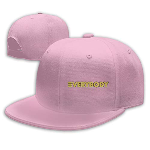 (Ooiilpe Men&Women Baseball Hat Everybody Baseball Cap Pink)