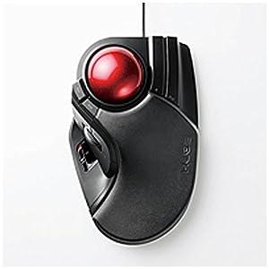 Amazon | エレコム トラックボールマウス 有線 大玉 8ボタン チルト機能 ブラック M-HT1URBK