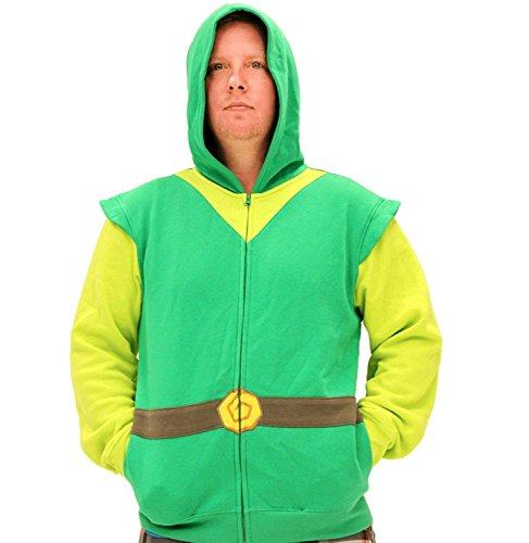Nintendo NNTD0209 10043101 Mens Link Hoodie