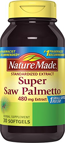 Nature Made Super Saw Palmetto Extract Liquid Softgel, 480 mg, 30 Count