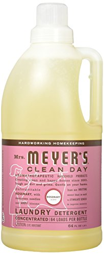 MRS MEYERS 64 Load Laundry Detergent, Rosemary, 64.0 Fluid Ounce