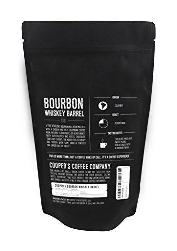 Bourbon, Whiskey, Rum Barrel Aged Coffee - Bourbon Barrel Colombian, Single Malt Sumatra, Rye Whiskey Ethiopian, Rum Barrel Rwanda, 12oz bags