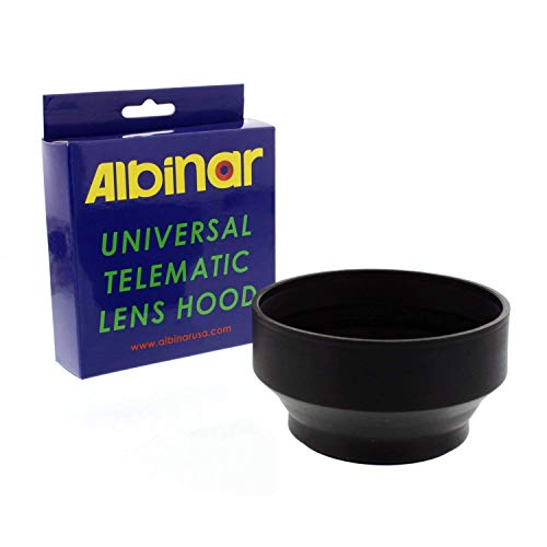 Albinar 58mm Universal Telematic Wide/Zoom 3 Position Rubber Lens Hood