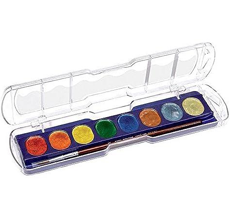 Giotto 601994 - Pack de 8 acuarelas metálicos, Multicolor: Amazon.es: Oficina y papelería