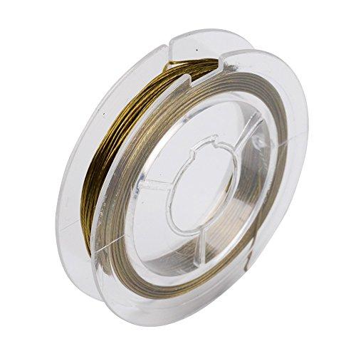 Pandahall 10Rolls 0.45mm/Gauge 25 Steel Tiger Tail Wire Craft Jewelry Beading Wire On Spool 11yard/33feet/10m/roll -