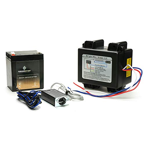 CB CHROMEBATTERY Breakaway Kit with Charger, Switch and Battery-Used for 1, 2, 3 Axle Trailers with Electric Brakes