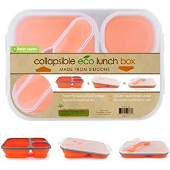 Amazon.com: Smart Planet Collapsible Eco Meal Kit, Large, Orange ...
