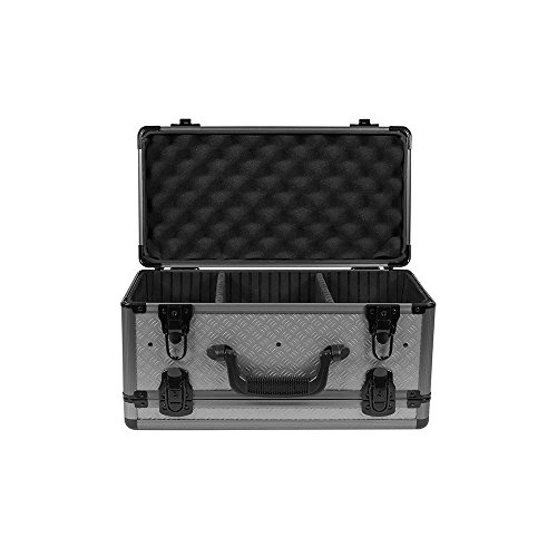 SportLock Cases AlumaLock Double-Sided Handgun/Range Case, Gray, Small