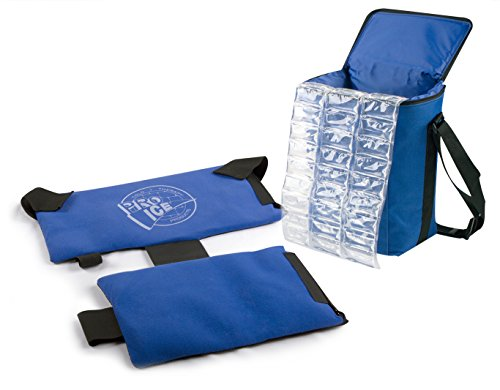 PRO ICE COLD THERAPY PRODUCTS Pro Ice Pitcher's Travel Kit - Shoulder Elbow Cold Therapy Wrap to Treat Rotator Cuff with Ice and Compression, PI800 Cooler Bag, Shoulder Wrap & Ice Packs Included